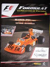 FASCICULE 17 FORMULA 1  MARCH 751  1975  VITTORIO BRAMBILLA