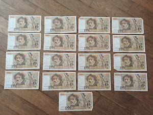 Lot 17 Billets 100 francs Eugène Delacroix 1980