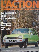 revue 1972 RENAULT 5 + 4L + 6 / CITROEN 2 CV / MINI 850 / ACTION AUTO