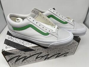 NEW Vans Vault OG Style 36 Lx Leather Green True White Men's Size 12