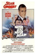 """JAMES BOND - NEVER SAY NEVER AGAIN - MOVIE POSTER 12"""" X 18"""" SEAN CONNERY"""