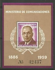 STAMPS-COLOMBIA. 1961. President Alfonso Lopez. SG:MS1065. Mint Never Hinged.