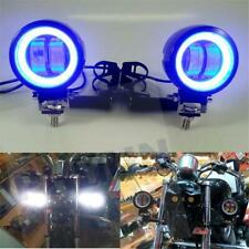 Universal Motorcycle LED Driving Spot Fog Lights Bar+ Bracket Scooter Touring US