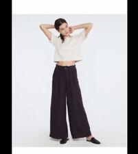 Lou & Gray black wide leg linen pants size XS
