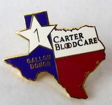Blood Donor Pin Texas Carter Blood Care 1 Gallon Donation