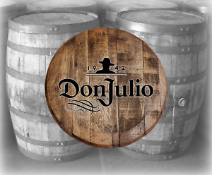 Rustic Home Bar Decor Don Julio Tequila Barrel Lid wood Wall Art Accessories