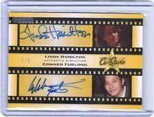 Pop Century Linda Hamilton Edward Furlong autograph auto card #1/5 TERMINATOR 2