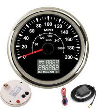 """85mm 3 3/8"""" Motorcycle GPS Speedometers Odometers 8 Colors Backlight w/ Aantenna"""