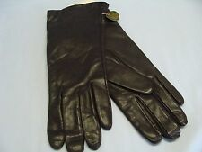 "Vintage 10.5"" Leather Cashmere Lined Gloves Dark Brown Size 7.5 Philippines New"