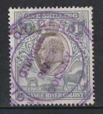 1905 Orange River Colony Bft:100 Grey & Black.Fine Used Revenue.
