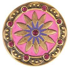 Buy 4 Get 1 $6.95 Snap Free Ginger Snaps Jewelry Brass Boho Pink/Purple Sn06-85