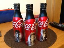 Star Wars Last Jedi UK Coke Zero Aluminium Coca Cola Bottles Full Set UK Limited