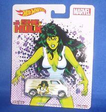 Custom 77dodge Van She Hulk Woman on Marvel Pop Culture 1 64hot Wheels Dwh30