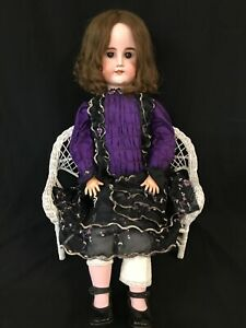 "Antique German / French Bisque DEP Composition Doll 31"" (Simon & Halbig?)"