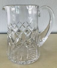 "Heavy Lead Crystal Pitcher Small 5.5"" Tall Water Juice Clear Barware Tabletop"