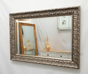 John Lewis Constantina Ornate Wall Mirror Gilt French Champagne Silver 107x75cm
