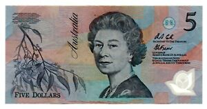 AUSTRALIA RARA BANCONOTA DA 5 DOLLARI