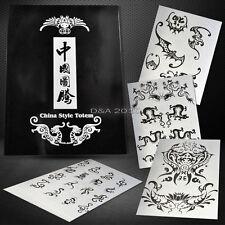 A4 73Pages Modern Koi Dragon Phoenix Totem Elements Flash Art Design Tattoo Book