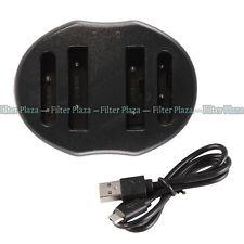 USB Dual Battery Charger For Nikon Coolpix P530 P510 P90 P100 P6000 EN-EL5 MH-61