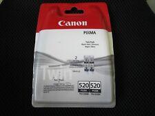 2er Set Twin-Pack original Canon Tintenpatronen PGI-520BK Black Schwarz Rechnung