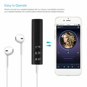 Wireless Bluetooth Car Receiver 3.5mm Audio AUX Stereo Earphone Adapter with Mic