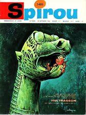 ▬► Spirou Hebdo - n°1485 du 29 Septembre 1966 - SANS mini-récit TBE