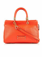 marc by marc jacobs too hot to handle orange soft leather satchel hand bag BNWT