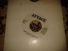 "Johnny Clarke - Simmer Down No More Gun - 7"" Attack Records."