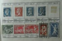Lote 9 sellos stamp France Republica usados antiguos yvert 177,185...