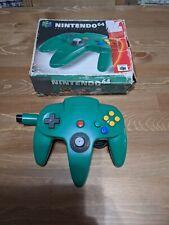 Original Nintendo 64 Green Controller w/ Box Insert N64 Nice Stick, Authentic