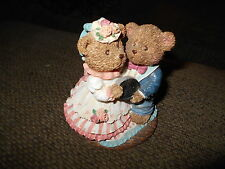 Russ From Teddy Town w Love Resin Figurine Item # 13839 Silver Anniversary