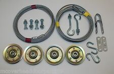 Complete Garage Door Pulley/Cable Set For Ext Springs