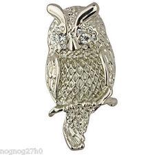 NEW KIRKS FOLLY OWL GARDEN OWL PIN  SILVERTONE