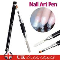 UV PolyGel Poly Gel Nail Art Pen Slice Brush Dual-Ended Slice Shape Tool Polish