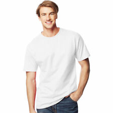 Hanes 7989 Mens Beefy-t White Short Sleeves T-shirt Big & Tall 2xlt BHFO
