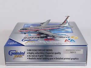 AMERICAN AIRLINES Boeing 707-320 Aircraft Model 1:400 Scale Gemini Jets RARE