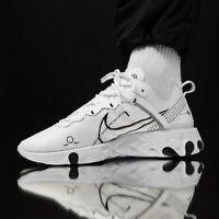 Nike React Element 55 DM White Black Men's Trainers Shoe Trainer UK Size 6-12