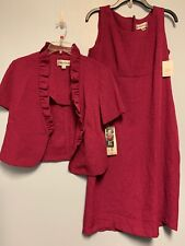 Danny & Nicole Size 10 Dress With Matching Suit Jacket New Tags Pink Purple