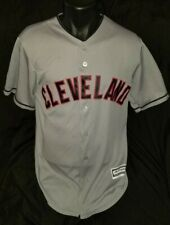 Majestic Cool Base Cleveland Indians Jersey Stitched Chief Wahoo Men's M