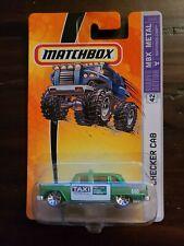 Matchbox 2006 MBX Metal #42 Checker Cab Green Metro Taxi