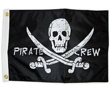 "Pirate Crew 12X18"" Pirate Boat Flag New Jolly Roger Jack Rackham"