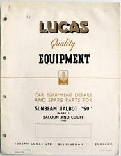 "LUCAS SUNBEAM TALBOT"" 90"" Electrics-Auto attrezzature & pezzi di ricambio - 1950-ce638"