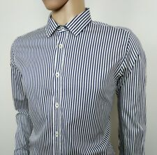"""Ted Baker London Mens Shirt Blue Stripe Floral Stretch Sz 5 Chest 44"""" New RRP£95"""