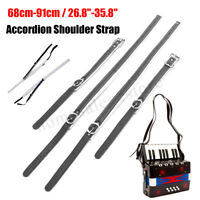 Accordion Leather Shoulder Straps Waterproof Adjustable Fit for 80/96/120 Bass