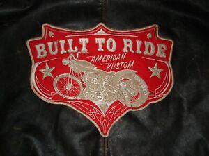 Biker Backpatch Old School used look Harley Davidson Chopper MC Rocker Groß