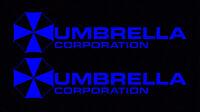 2X Blue Umbrella Corporation Hive Resident Evil Vinyl Sticker Car  Window Decal
