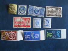 10 Timbres ROYAUME UNI 111,182,204,283/4,250**,268**,362/4** obl/**
