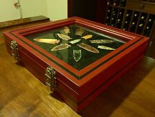 Artifact Display Case (Colonial Red With Black Pinstripes)