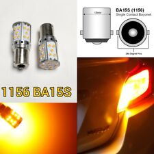 Front Turn Signal Light 35 SMD LED Bulb Amber 1156 P21W 3497 7506 B1 BAU