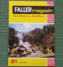 Faller AMS ---  Faller Magazin 81, August 1971